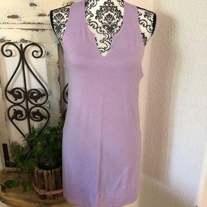 Gaiam lavender athletic tank tunic
